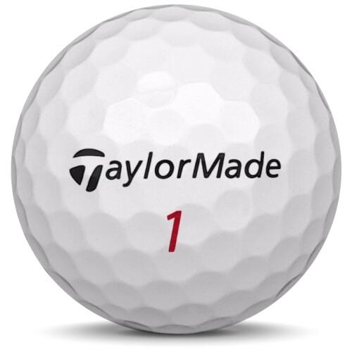 Golfboll av modellen TaylorMade TP5x i 2020 års version med vit färg framifrån