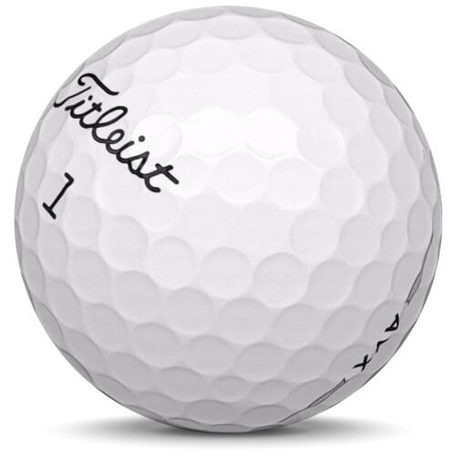 Golfboll av modellen Titleist AVX i 2021 års version med vit färg sned bild