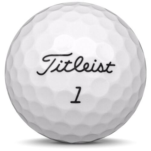 Golfboll av modellen Titleist NXT Tour S 2017års version med gul färg