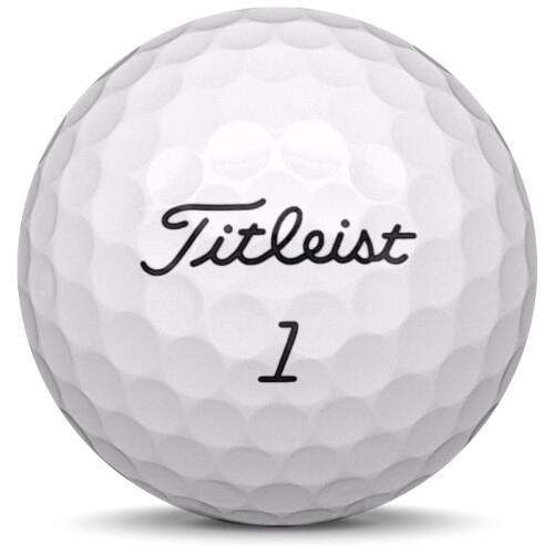 Golfboll av modellen Titleist Pro V1 i 2018års version med vit färg