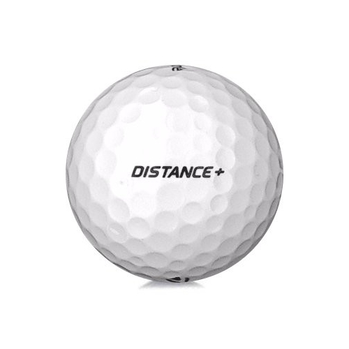 Golfboll av modellen TaylorMade Distance + i vit färg