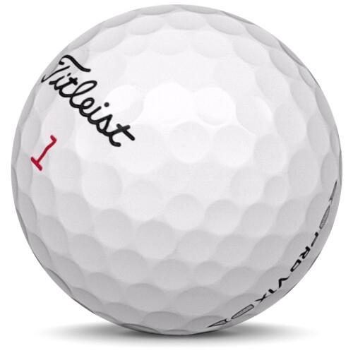 Golfboll av modellen Titleist Pro v1x i 2016 års version med vit färg sned bild