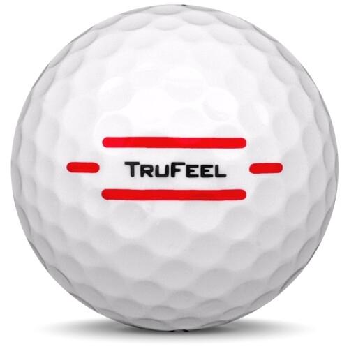 Golfboll av modellen Titleist Trufeel i 2021 års version med vit färg från sidan