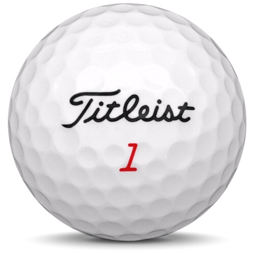 Golfboll av modellen Titleist Trufeel i 2021 års version med vit färg framifrån