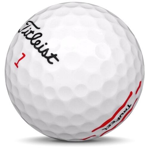 Golfboll av modellen Titleist Trufeel i 2021 års version med vit färg sned bild