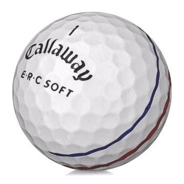 Golfboll av modellen Callaway ERC Soft i vit färg