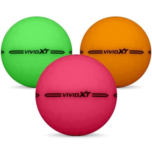 Golfbollar av modellen Volvik VIVID XT i 2019 års version i blandade färger