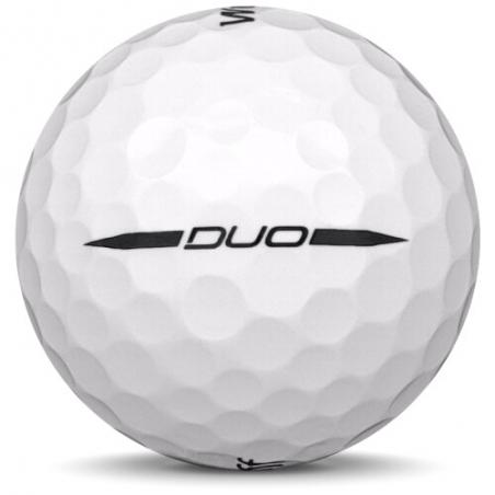 Golfboll av modellen Callaway Chrome Soft x i 2018års version med vit färg
