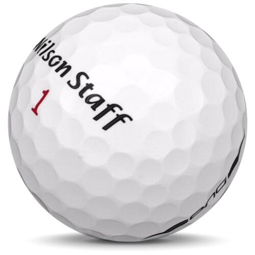 Golfboll av modellen Wilson Staff Duo i vit färg framifrån