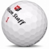 Golfboll av modellen Callaway Chrome Soft x Truvis i vit/röd färg