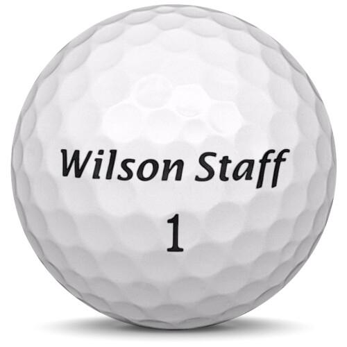 Golfboll av modellen Wilson Staff Duo Urethane i vit färg framifrån