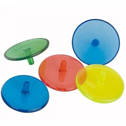 12 stycken bollmarkörer i plast i blandade färger