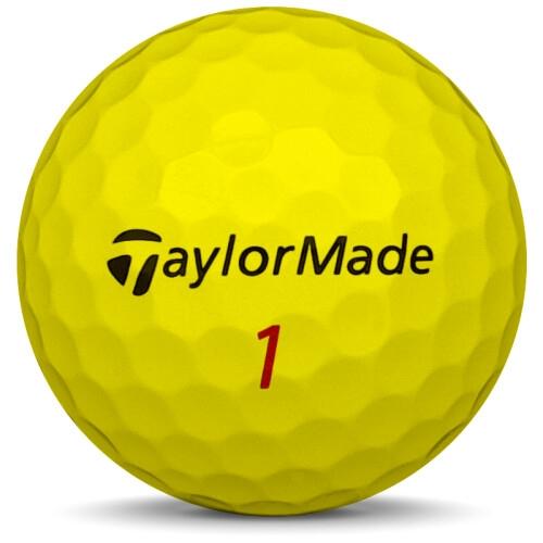 Fyra golfbollar av modellen Volvik Mix i blandade färger
