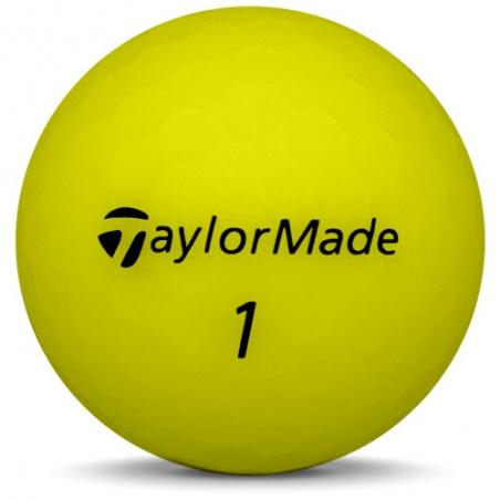 Golfboll av modellen Callaway Superhot 70 i gul färg
