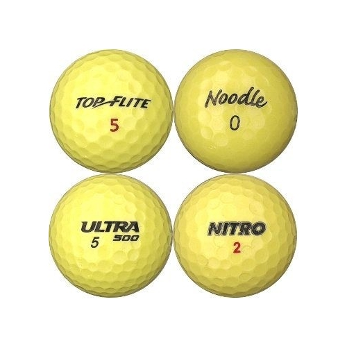 Golfbollar av modellen Blandade golfbollar i gul färg