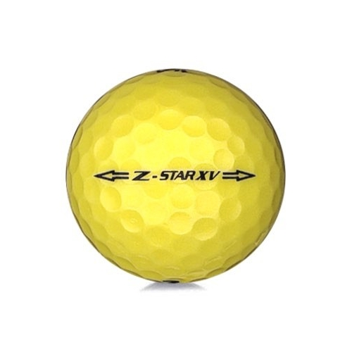 Golfboll av modellen Srixon Z-Star XV 2017 års version med gul färg