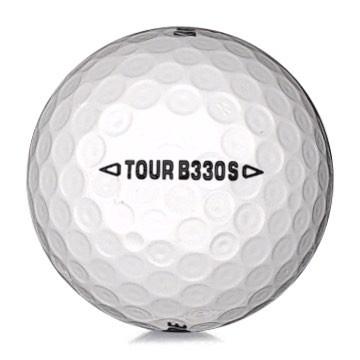 Golfboll av modellen Bridgestone B330 S i 2017års version med vit färg