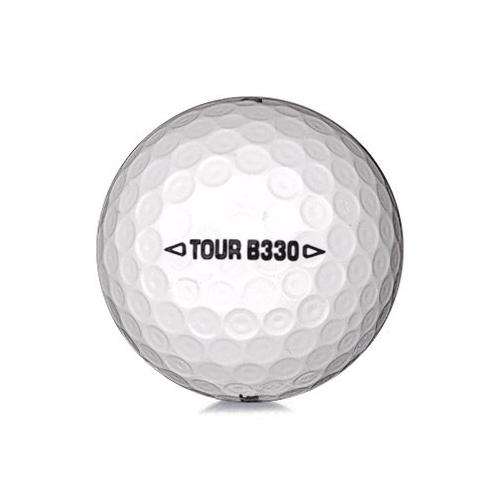 Golfboll av modellen Bridgestone B330 i 2017års version med vit färg