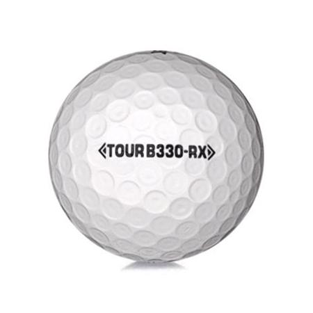 Golfboll av modellen Bridgestone B330-RX i vit färg
