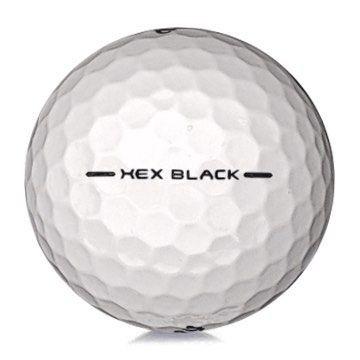 Golfboll av modellen Callaway Hex Black i vit färg