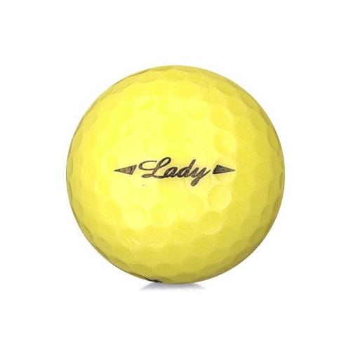 Golfboll av modellen Bridgestone Lady i gul färg