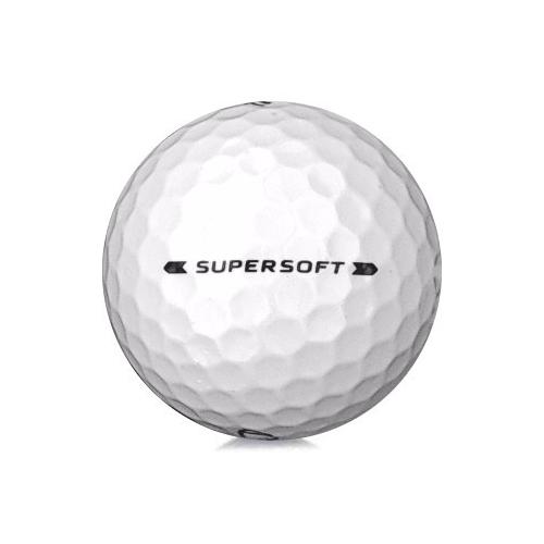 Golfboll av modellen Callaway Supersoft i 2019års version med vit färg