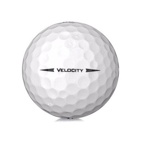 Golfboll av modellen Titleist Velocity i 2019års version med vit färg