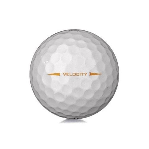 Golfboll av modellen Titleist Velocity i 2019års version med Visi white färg