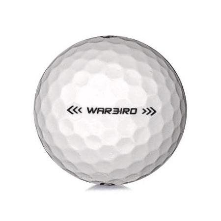Golfboll av modellen Callaway Warbird i 2019års version med vit färg