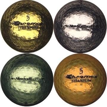 Golfboll av modellen Chromax i blandade färger