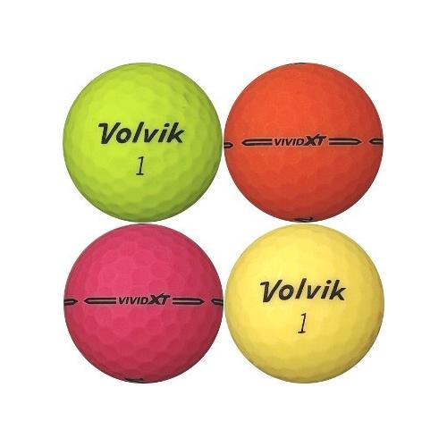 Golfboll av modellen Volvik VIVID XT i blandade färger