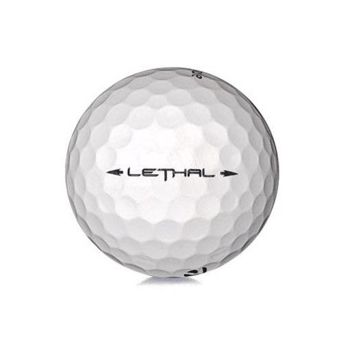 Golfboll av modellen TaylorMade Lethal i vit färg