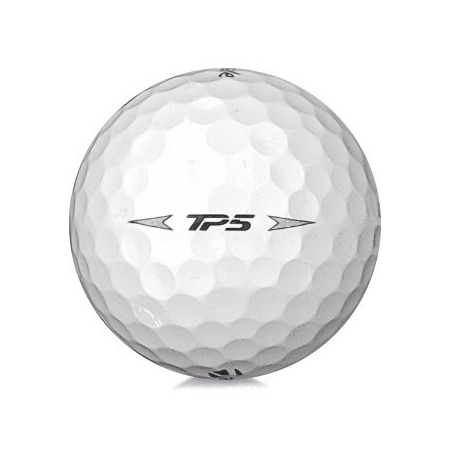 Golfboll av modellen TaylorMade TP5 i 2019års version med vit färg