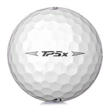 Golfboll av modellen TaylorMade TP5x i 2019års version med vit färg