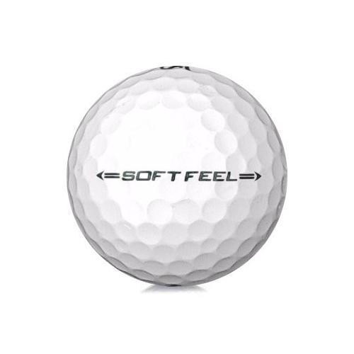 Golfboll av modellen Srixon Soft Feel i 2019års version med vit färg