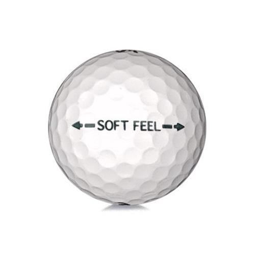 Golfboll av modellen Srixon Soft Feel i vit färg