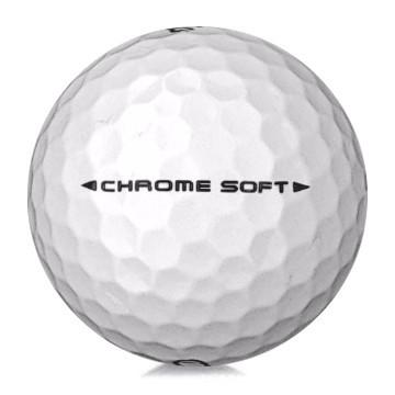 Golfboll av modellen Callaway Chrome Soft i 2019års version med vit färg