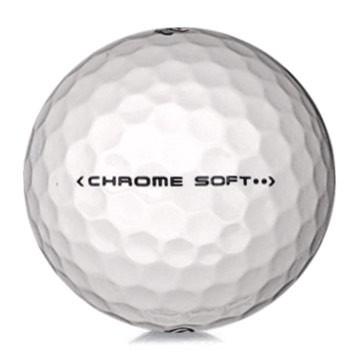 Golfboll av modellen Callaway Chrome Soft i vit färg