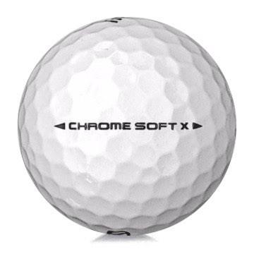 Golfboll av modellen Callaway Chrome Soft x i 2019års version med vit färg