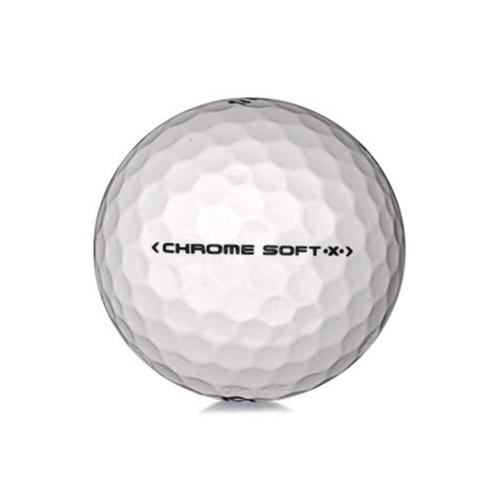 Golfboll av modellen Callaway Chrome Soft x i vit färg