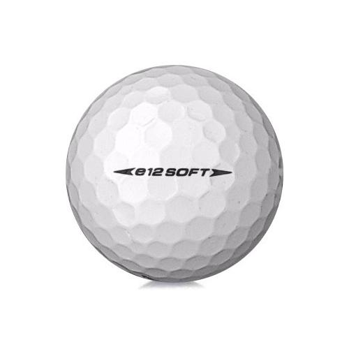 Golfboll av modellen Bridgestone E12 Soft i vit färg