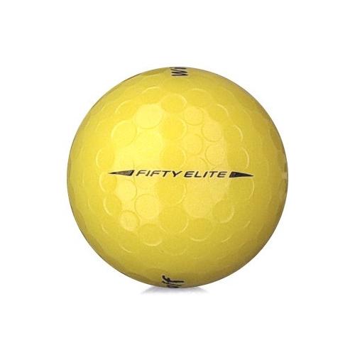 Golfboll av modellen WIlson Staff Fifty Elite i gul färg