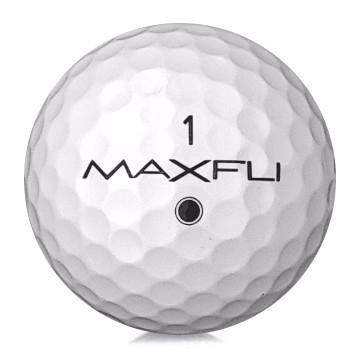 Golfboll av märket Maxfli i vit färg