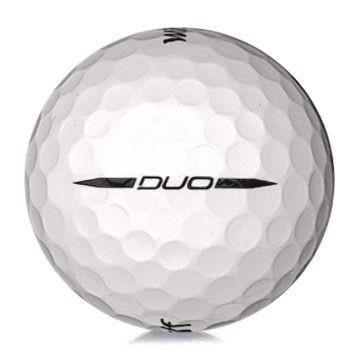 Golfboll av modellen Wilson Staff DUO i vit färg