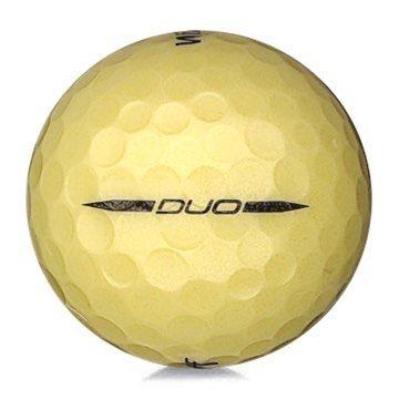 Golfboll av modellen Wilson Staff DUO i gul färg