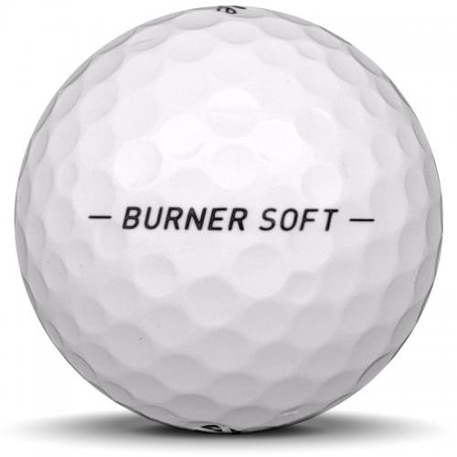 Golfbollen TaylorMade Burner Soft från sidan