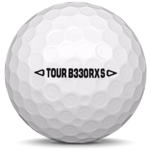 Golfboll av modellen Bridgestone B330-RXS i vit färg från sidan