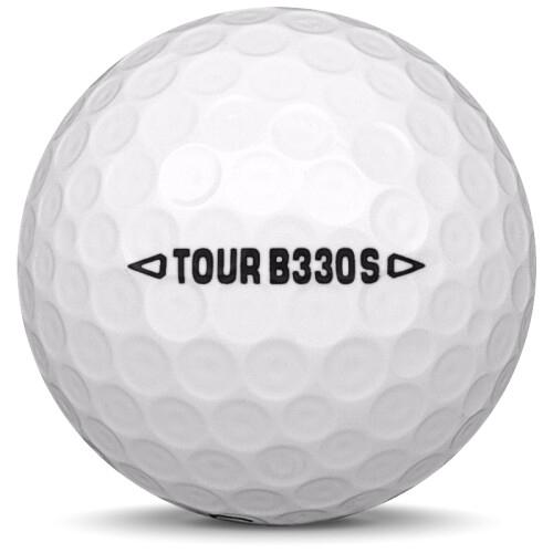 Golfboll av modellen Bridgestone B330-S i vit färg från sidan