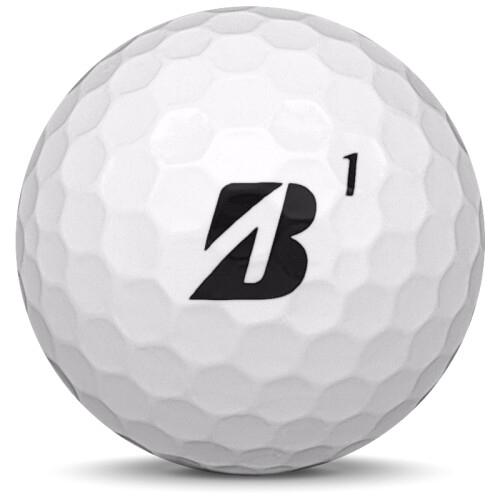 Golfboll av modellen Bridgestone E6 Soft i 2018 års version med vit färg framifrån