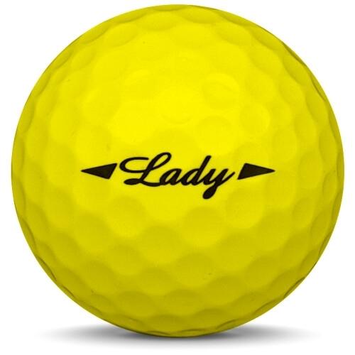 Golfboll av modellen Bridgestone Lady i gul färg från sidan